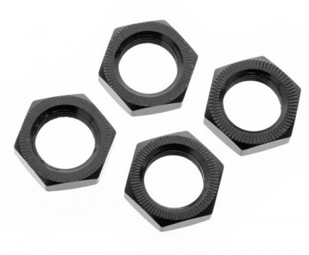 Aluminium Wheel Nut 17mm Black (4)