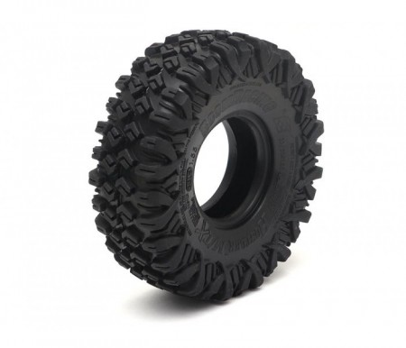 Boom Racing HUSTLER M/T Xtreme 1.55 BABY Rock Crawling Tires 3.74x1.3 SNAIL SLIME™ Compound w/Open Cell Foams (US)