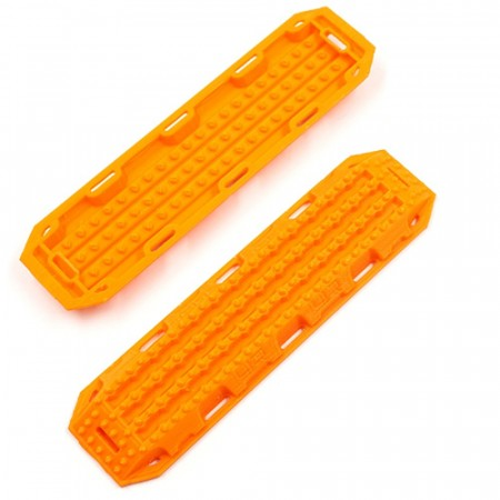 Yeah Racing 1/10 RC Rock Crawler Accessory 3D Printed Plastic Recovery Ramps Sand Board Orange