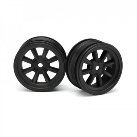 HPI 3931 MX60 8 SPOKE WHEEL BLACK (0mm OFFSET/2pcs)