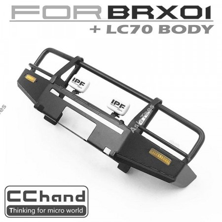 CChand ARB Front Bumper + IPF LED Light for Boom Racing BRX01