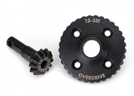 Ring- and differential pinion gear Overdrive 12/33T CNC TRX-4