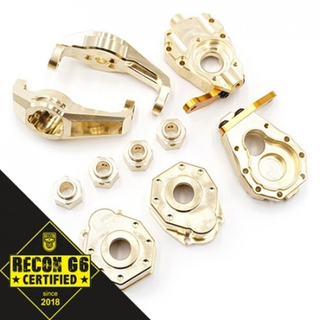 Yeah Racing Brass Upgrade Parts Set For Traxxas TRX-4 TRX4-6 [G6 Certified]
