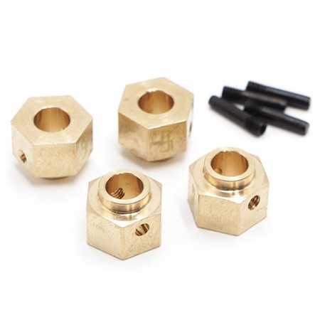 Yeah Racing 12mm Brass Hex Adaptor 8mm Offset 4pcs For Traxxas TRX-4 TRX4-6