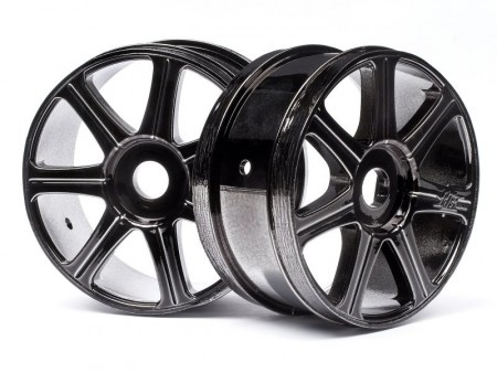 HPI 67768 HB EDGE Wheel (Black Chrome/2pcs)