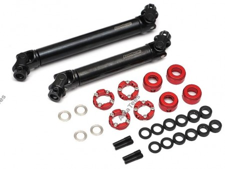 Boom Racing BADASS™ HD Steel Center Drive Shaft Set for Traxxas TRX4 D110 / Sport / Ford Front and Rear (2)