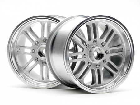 HPI 3139 8 SPOKE WHEEL MATTE CHROME (83X56MM/2PCS)