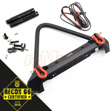 Yeah Racing Aluminum Alloy Front Bumper w/LED Light For SCX10 II/TRX-4/Venture/BOM/Enduro Sendero ´G6 Certified´