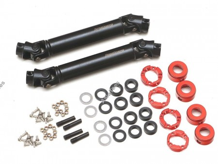 Boom Racing BADASS™ HD Steel Center Drive Shaft Set for Axial SCX10 III (SCX10.3)