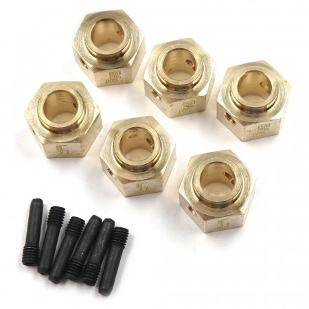 Yeah Racing Brass Hex Adaptor 12x8mm 6pcs For Traxxas TRX-6
