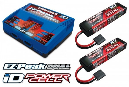 Traxxas Charger Dual iD and 2xBattery 11,1V 5000mAh Combo