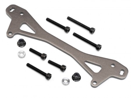 HPI Rear Shock Mount Plate A (gunmetal /+12mm) - Baja 5B SS