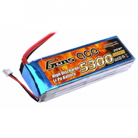 2s 5300mAh - 30C - 7,4v -Gens Ace Deans/T-Plugg